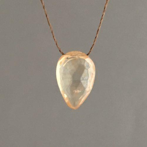 JSJ peach quartz teardrop main B